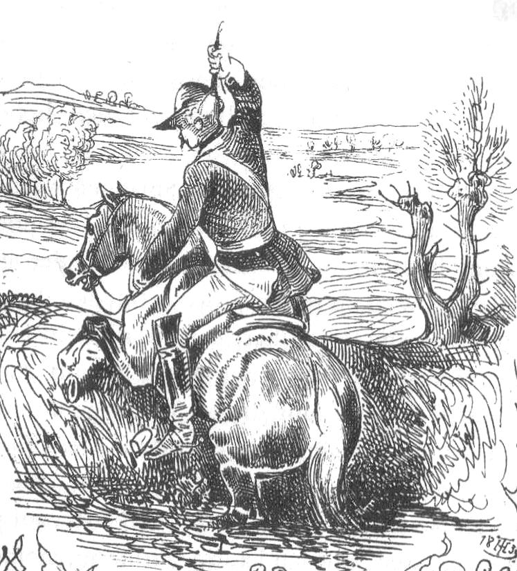 Baron Münchhausen zieht sich an seinen Haaren selbst aus dem Sumpf.