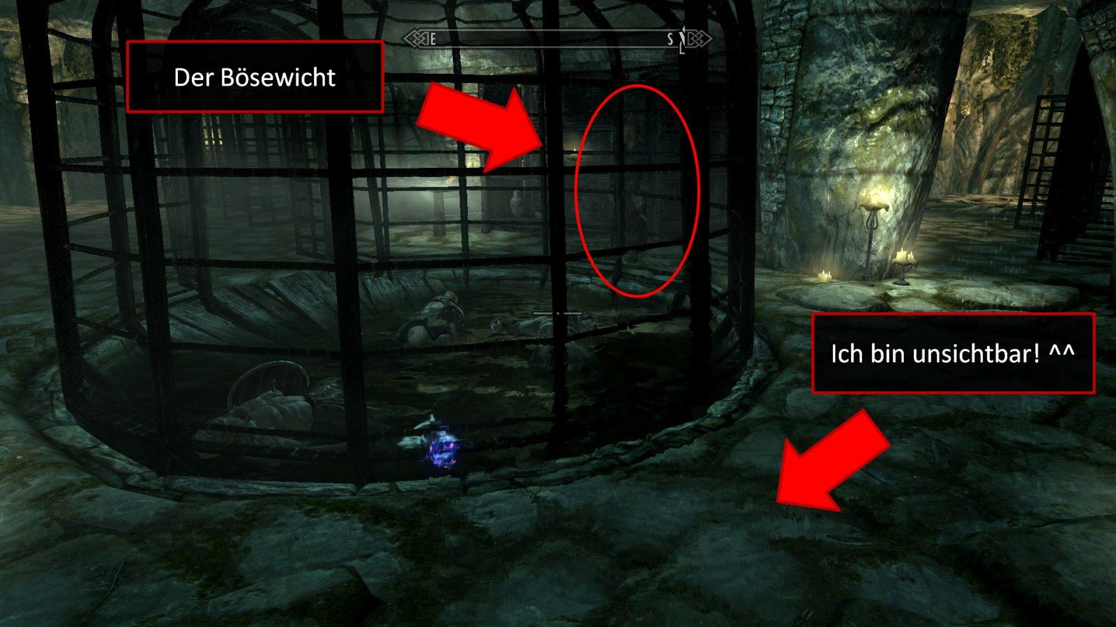 Screenshot aus Skyrim: Ein böser Magier hat unschuldige Abenteurer für seine Experimente benutzt.